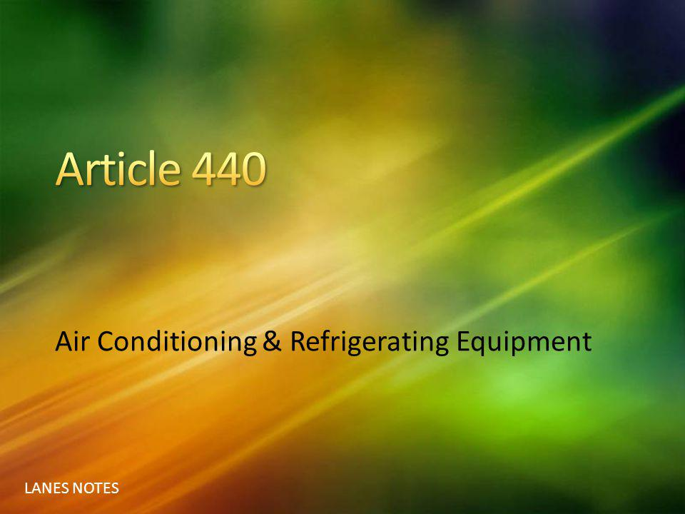 Air Conditioning & Refrigerating Equipment