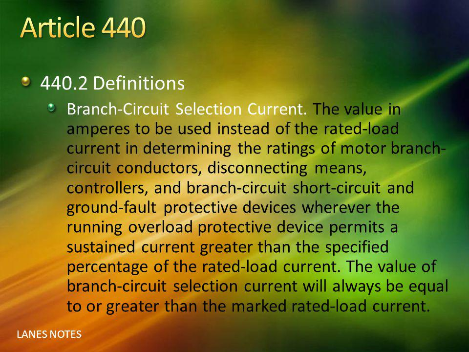 Article 440 440.2 Definitions.