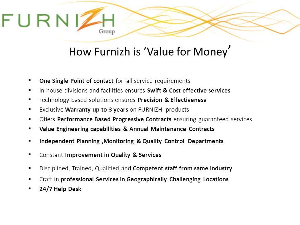 How Furnizh is 'Value for Money'