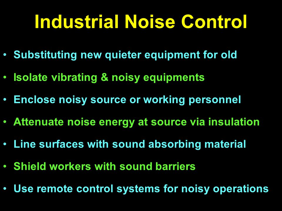 Industrial Noise Control