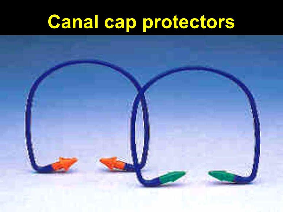Canal cap protectors