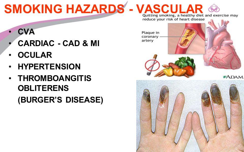 SMOKING HAZARDS - VASCULAR