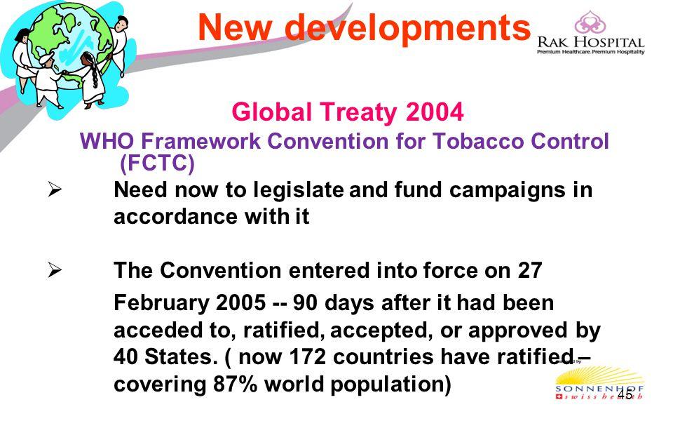 New developments Global Treaty 2004