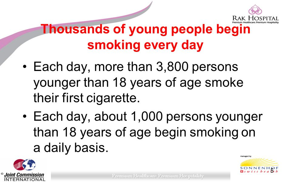 Thousands of young people begin smoking every day