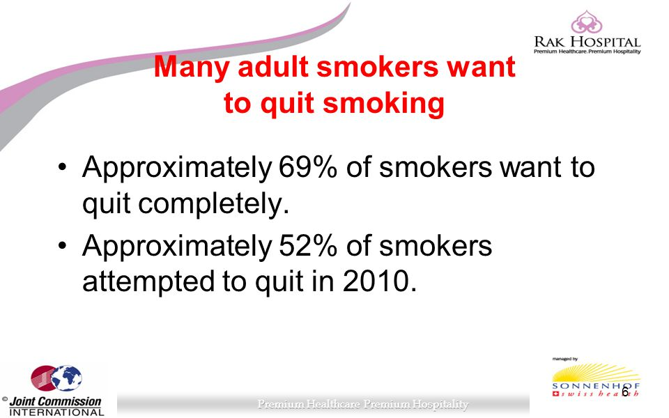 Many adult smokers want to quit smoking