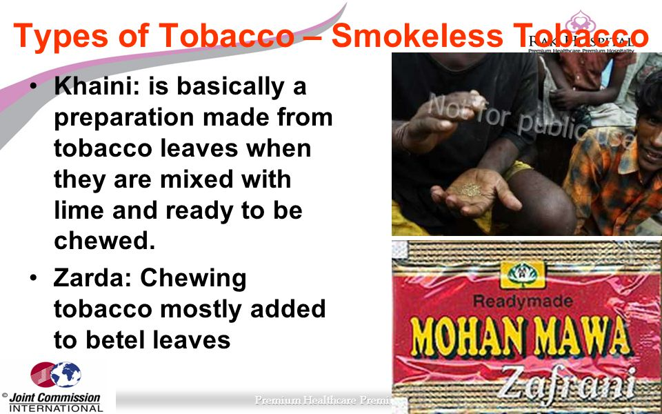Types of Tobacco – Smokeless Tobacco