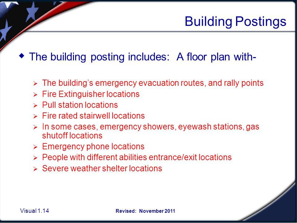 Example of Emergency Floor Plan Postings