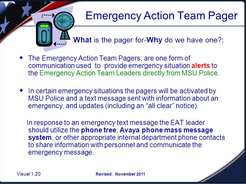 Start: Pager message launched