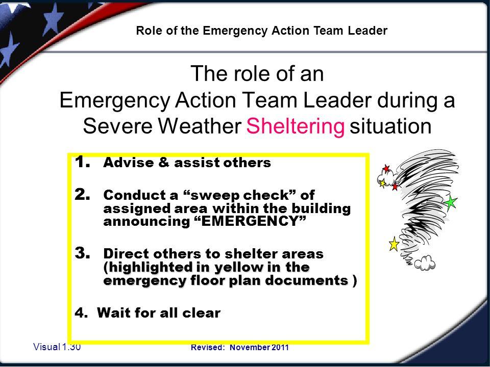 Designated Tornado Shelters: