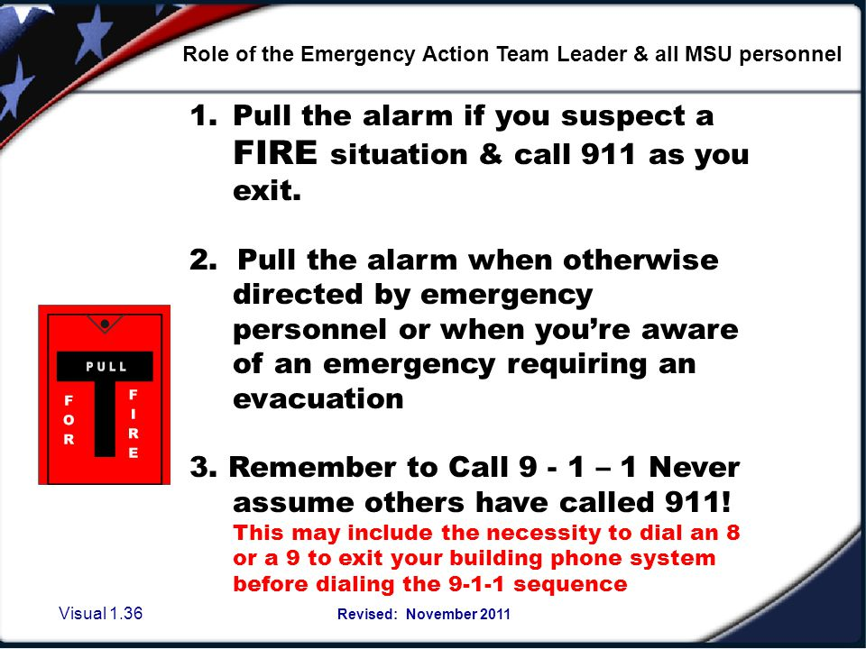 False Alarms- known or not known