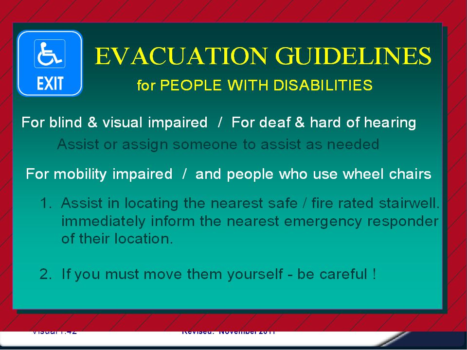 Persons with different abilities: How to Assist