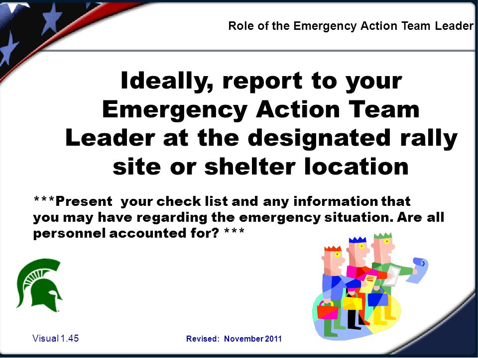 Role of the Emergency Action Team Leader