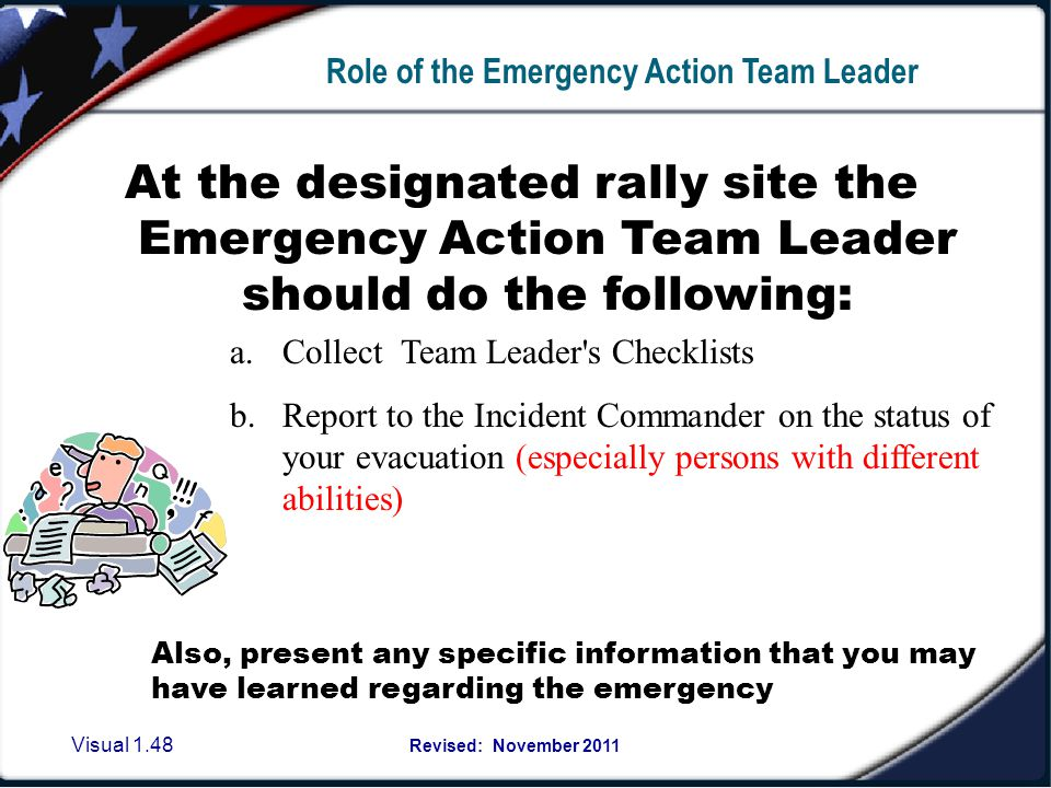 Emergency Action Team Leader