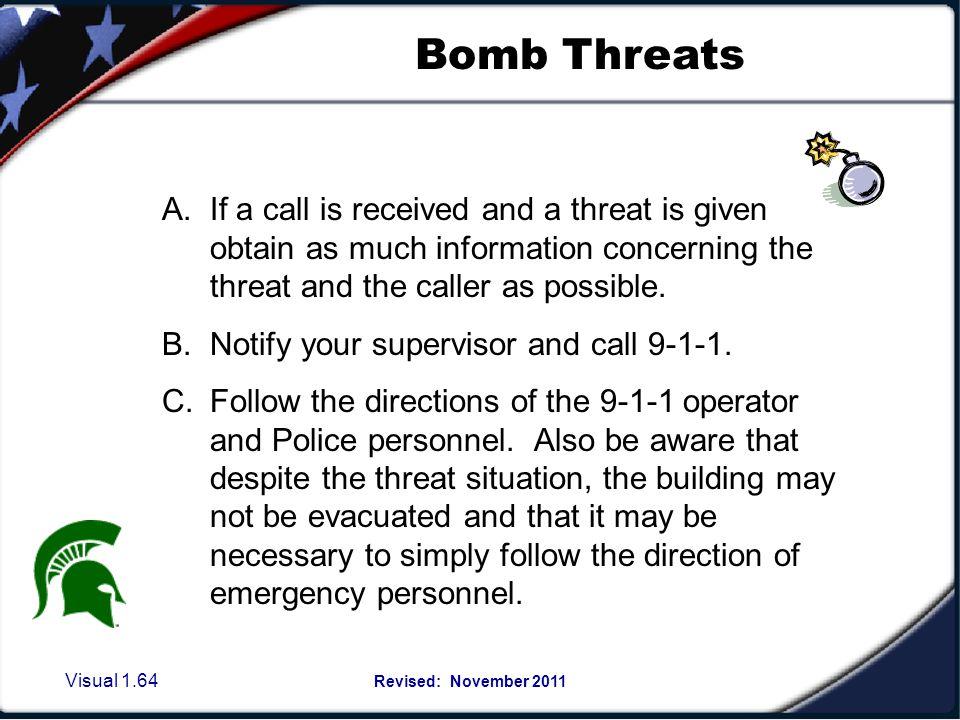 Bomb Threats-Evacuation Guidelines