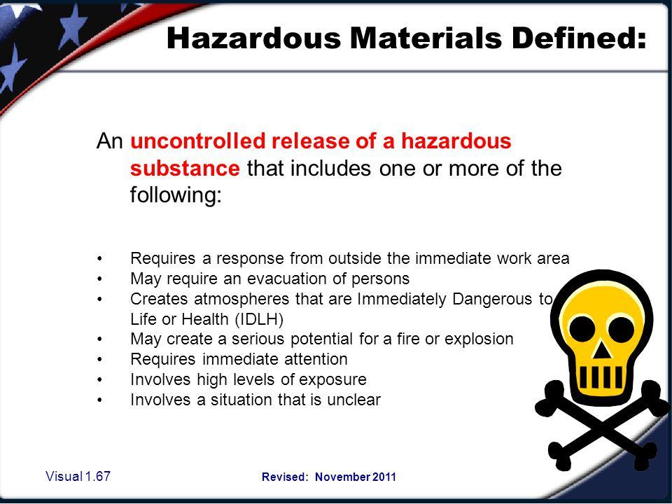 Hazardous Materials EMERGENCY RELEASE PROCEDURES: