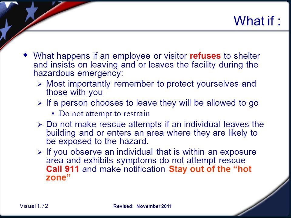 Preparedness continued: