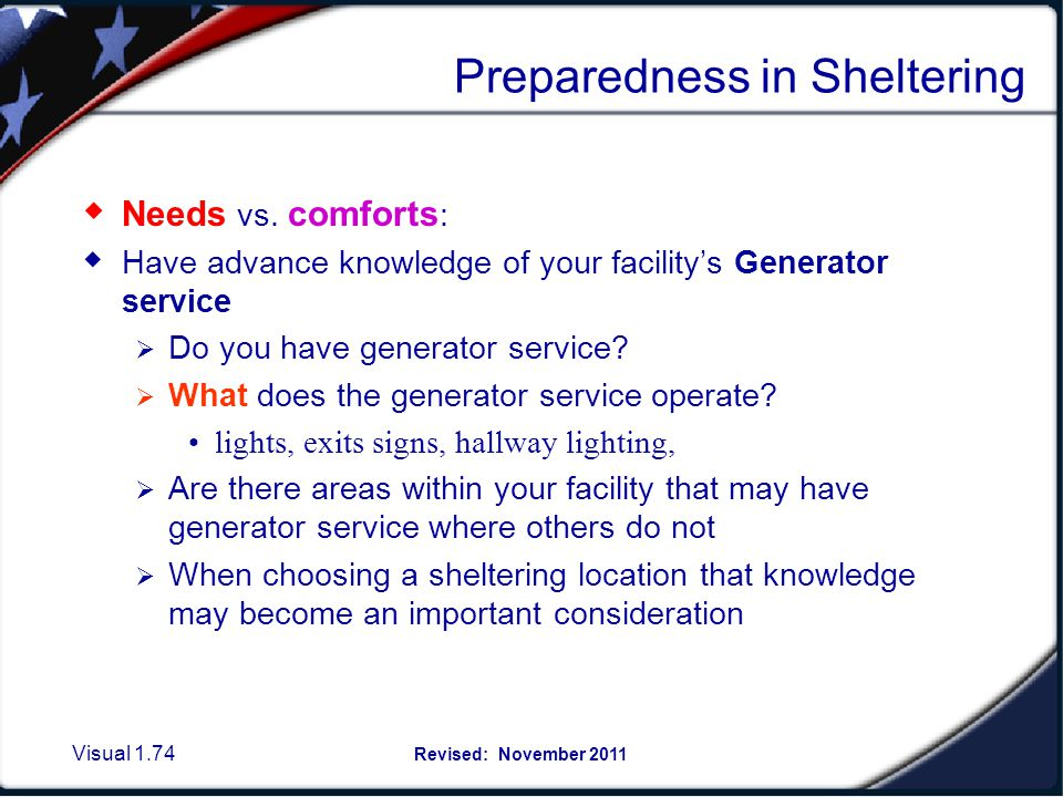 Selecting a Sheltering Location