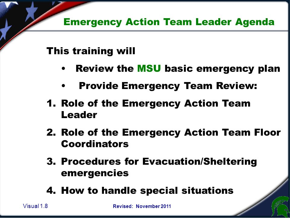 Emergency Plan concepts