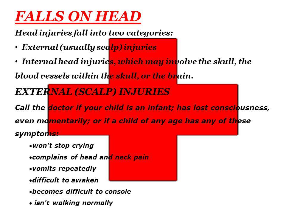 FALLS ON HEAD EXTERNAL (SCALP) INJURIES