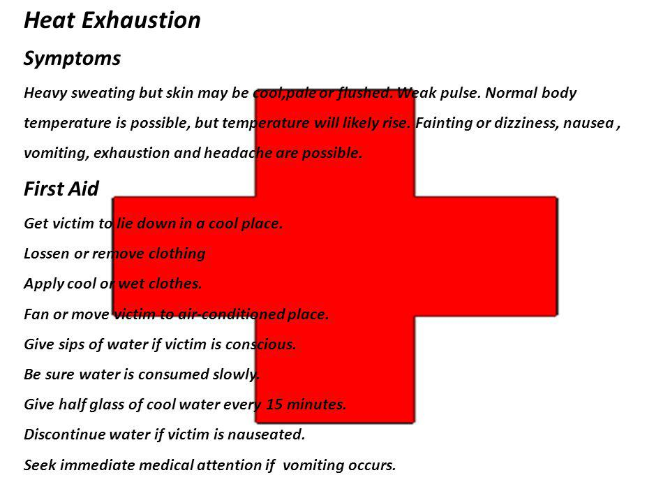 Heat Exhaustion Symptoms First Aid