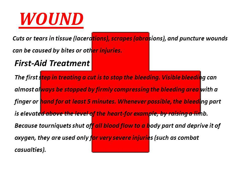 WOUND First-Aid Treatment