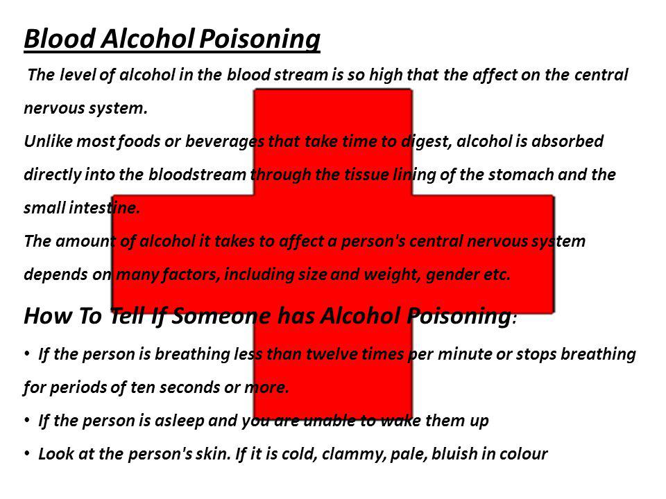 Blood Alcohol Poisoning