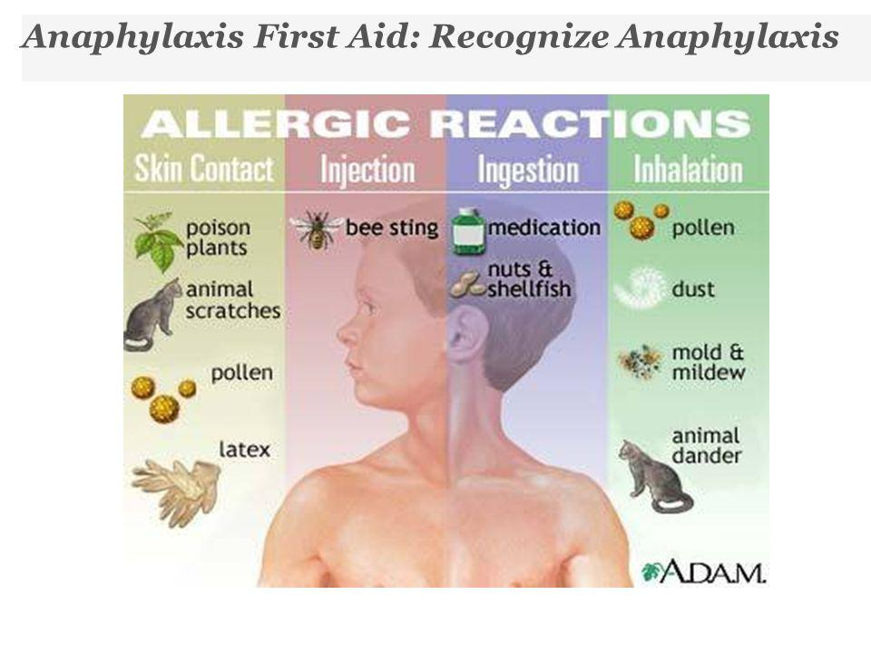 Anaphylaxis First Aid: Recognize Anaphylaxis