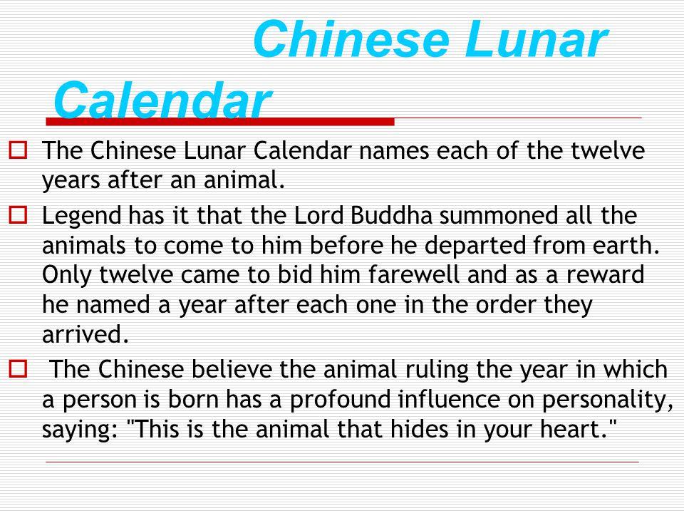 Chinese Lunar Calendar