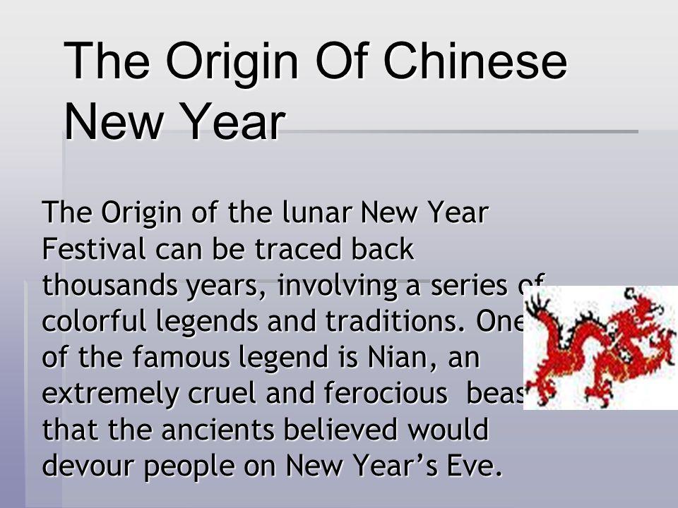 The Origin Of Chinese New Year