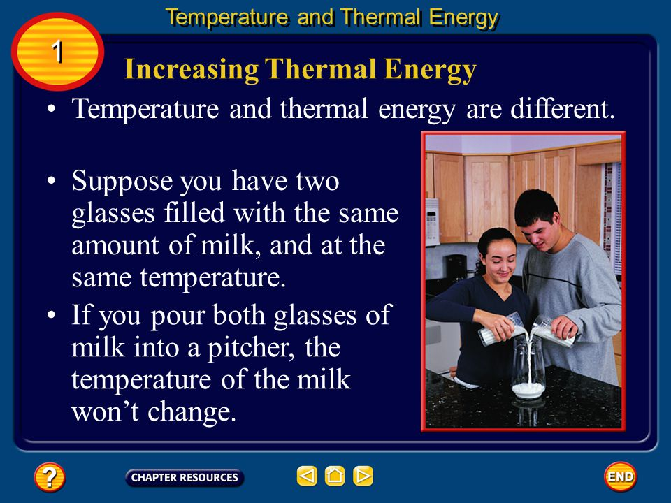 Increasing Thermal Energy
