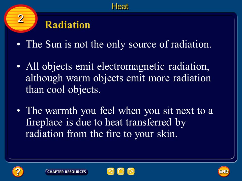The Sun is not the only source of radiation.