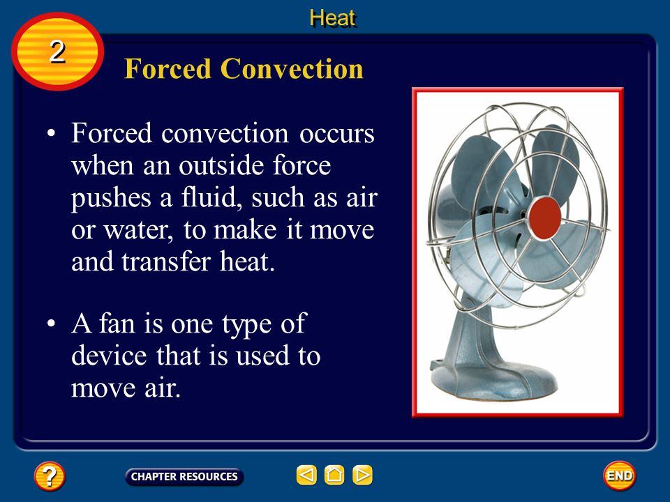 A fan is one type of device that is used to move air.