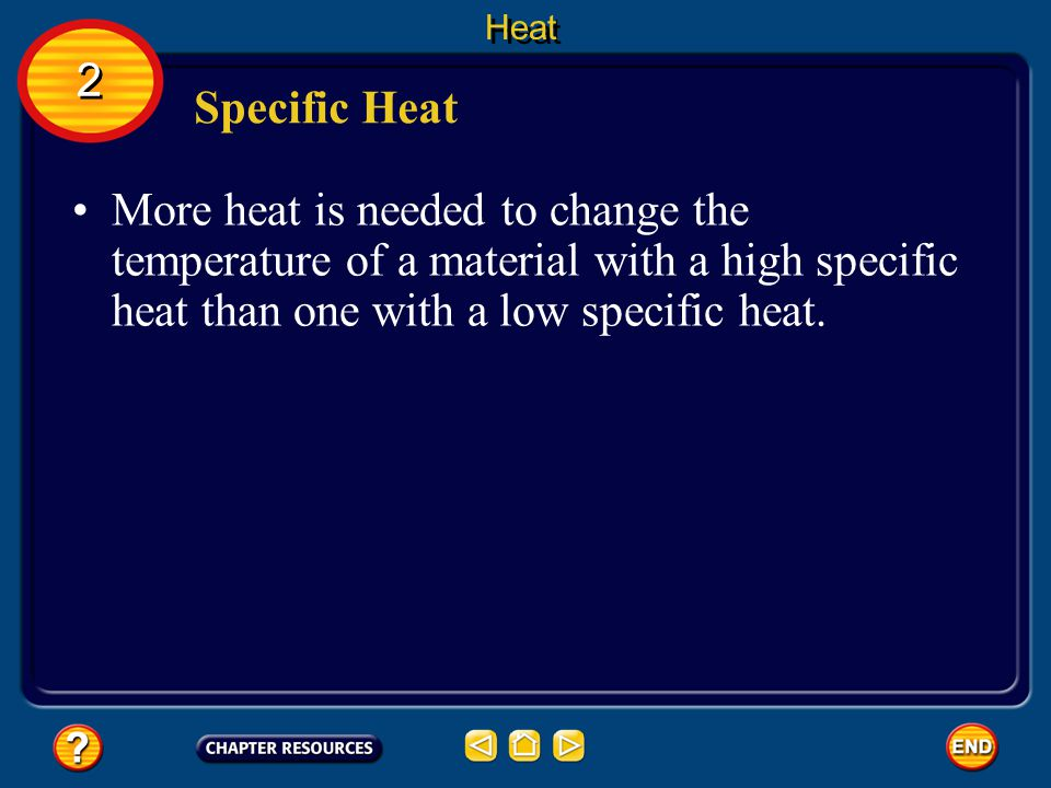 Heat 2. Specific Heat.