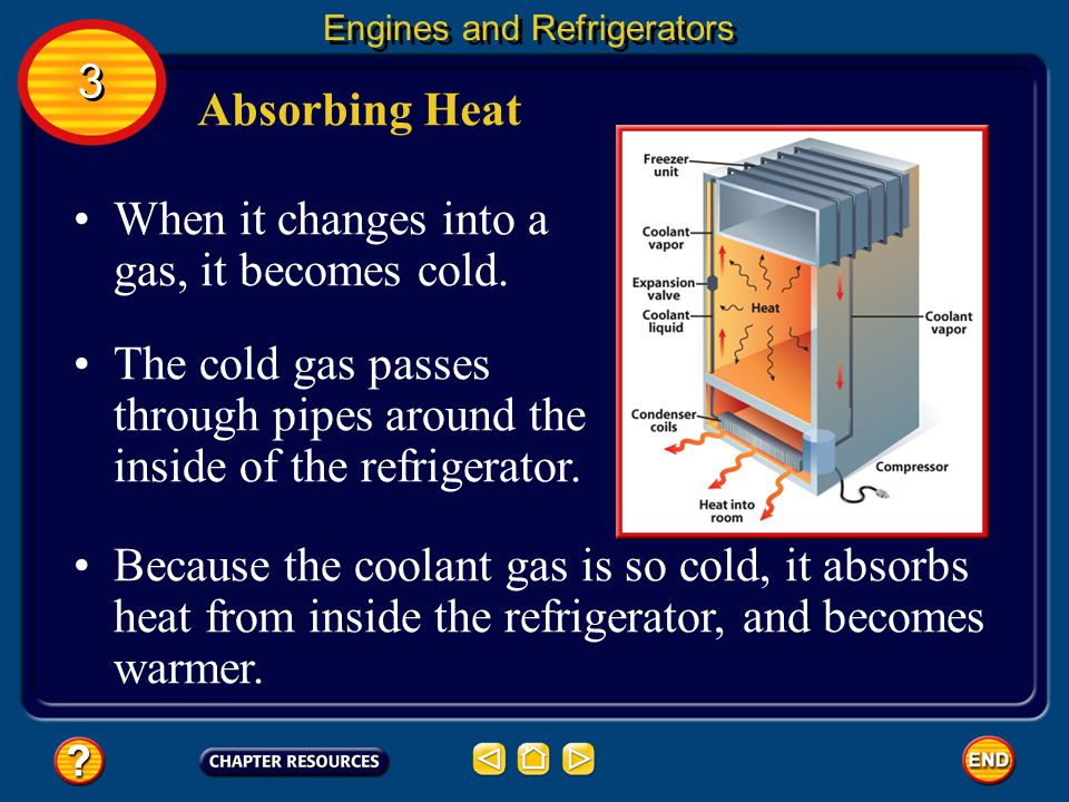 When it changes into a gas, it becomes cold.