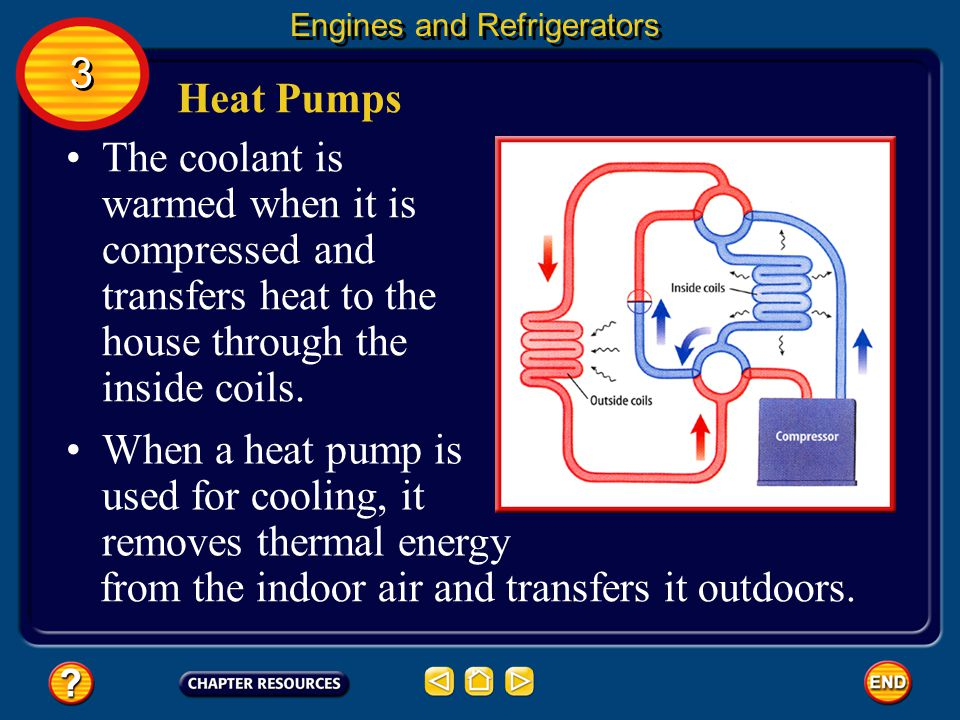 When a heat pump is used for cooling, it removes thermal energy