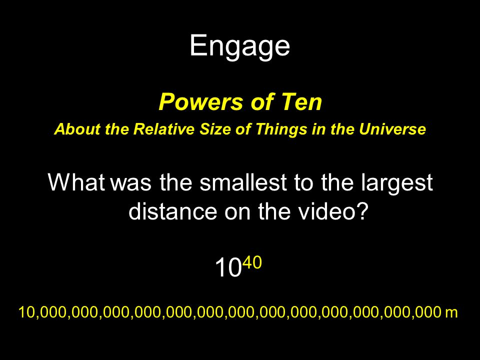 About the Relative Size of Things in the Universe