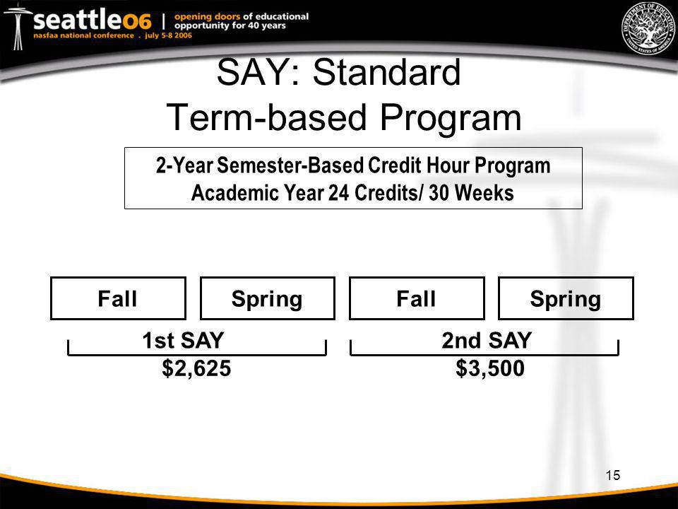 SAY: Standard Term-based Program