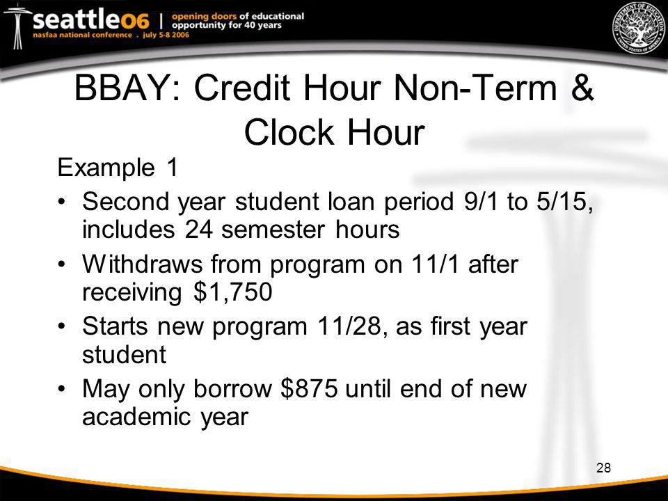 BBAY: Credit Hour Non-Term & Clock Hour