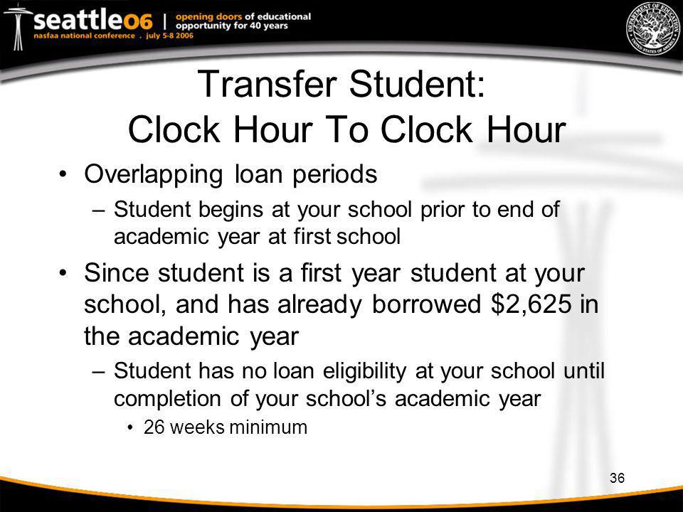 Transfer Student: Clock Hour To Clock Hour