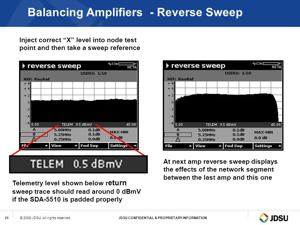 Balancing Amplifiers - Reverse Sweep