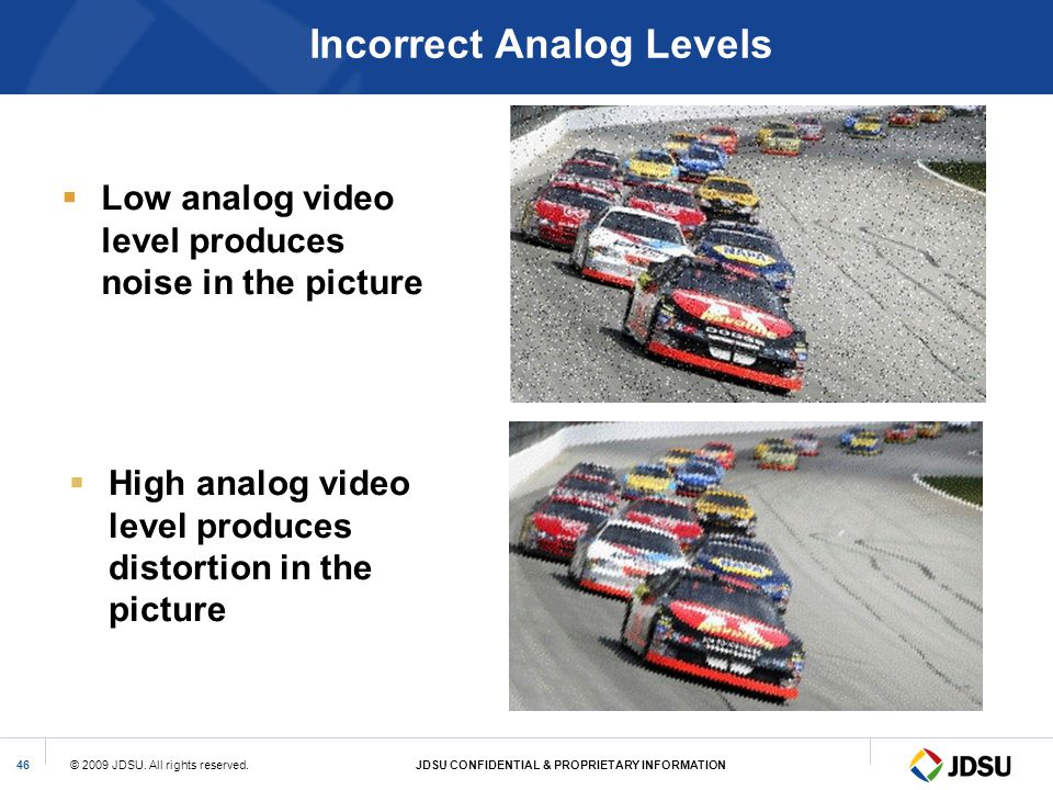 Incorrect Analog Levels