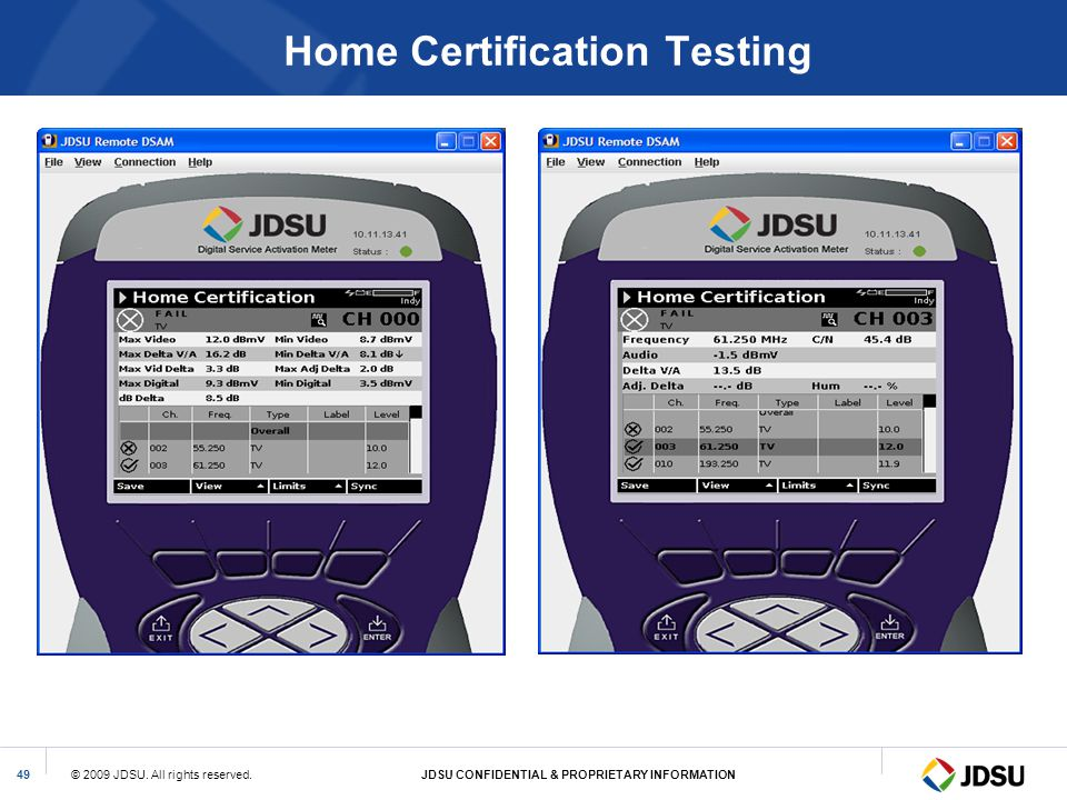 Home Certification Testing