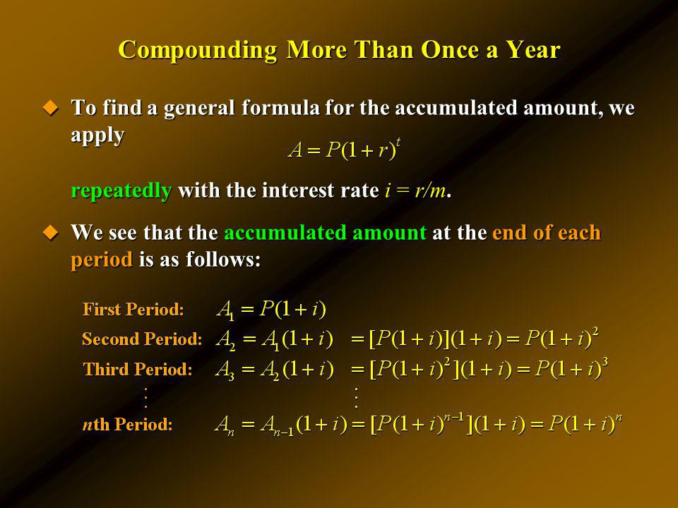 Compounding More Than Once a Year