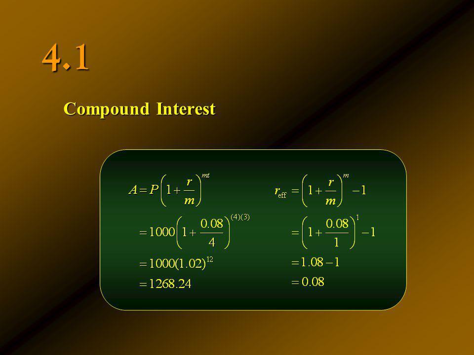 4.1 Compound Interest