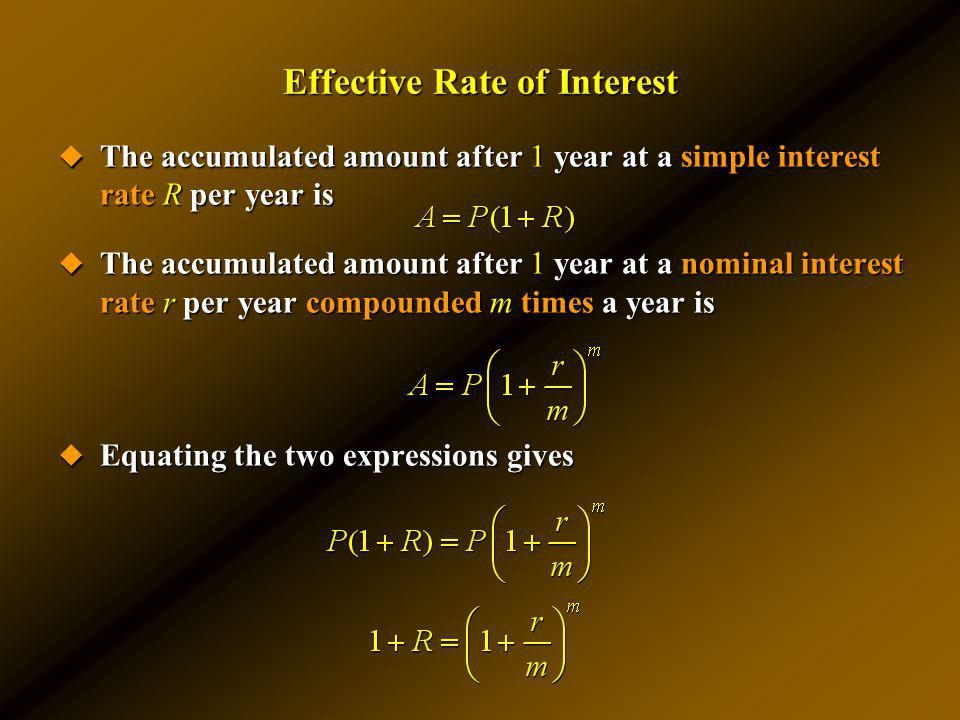 Effective Rate of Interest