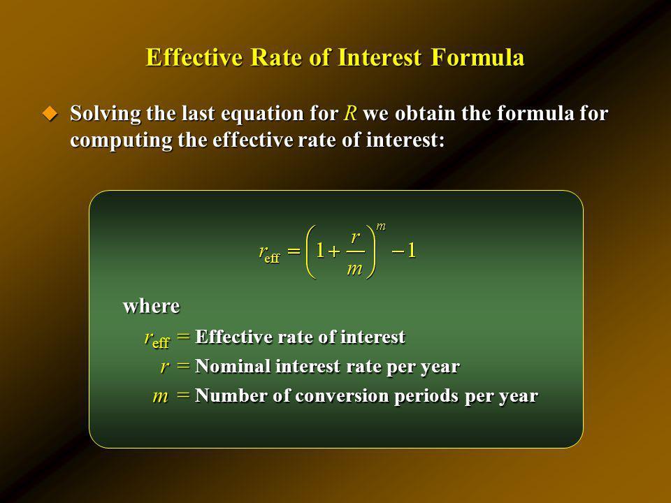 Effective Rate of Interest Formula