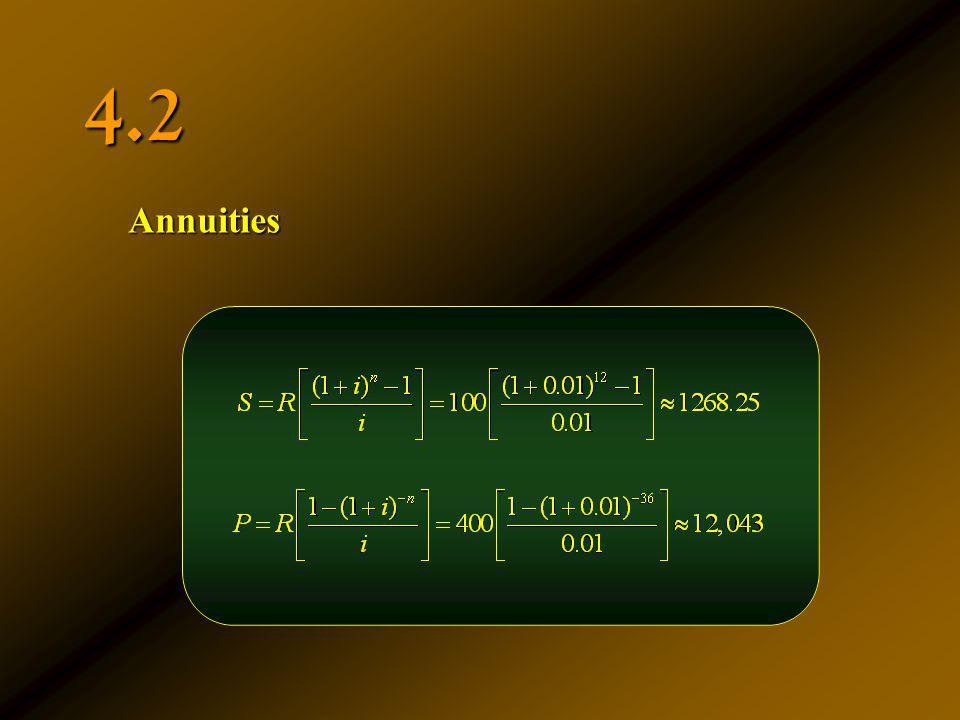 4.2 Annuities