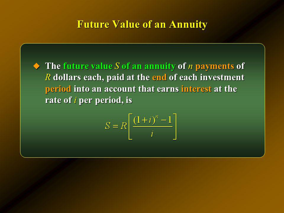 Future Value of an Annuity