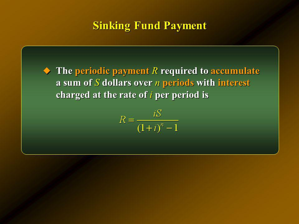 Sinking Fund Payment