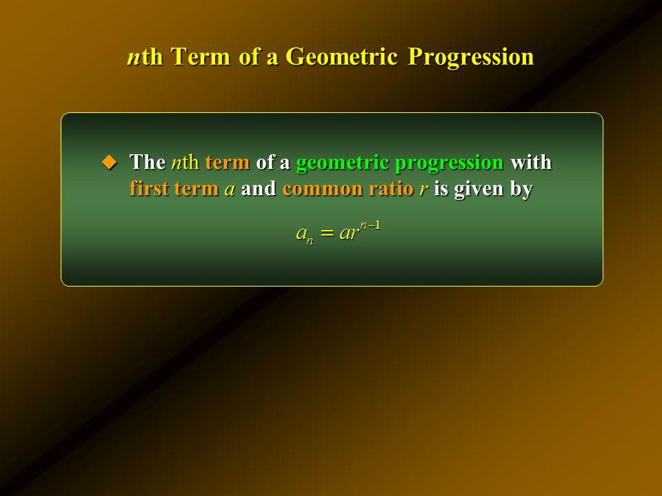 nth Term of a Geometric Progression